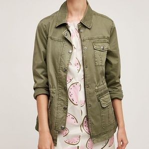 Anthropologie Marrakech Green Utility Jacket